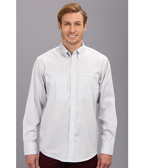 Culture Phit - Aaron Relaxed Fit Sport Shirt (Grey Check) Men