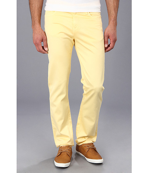 Culture Phit - Colton Straight Leg Regular Fit Pant (Yellow) Men's Casual Pants