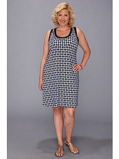 SALE! $64.99 - Save $63 on Karen Kane Plus Plus Size Contrast Tank Dress (Print) Apparel - 49.23% OFF $128.00
