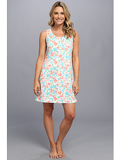 SALE! $17.99 - Save $22 on Karen Neuburger Kiss Me Kate Chemise (Floral Teal) Apparel - 55.03% OFF $40.00