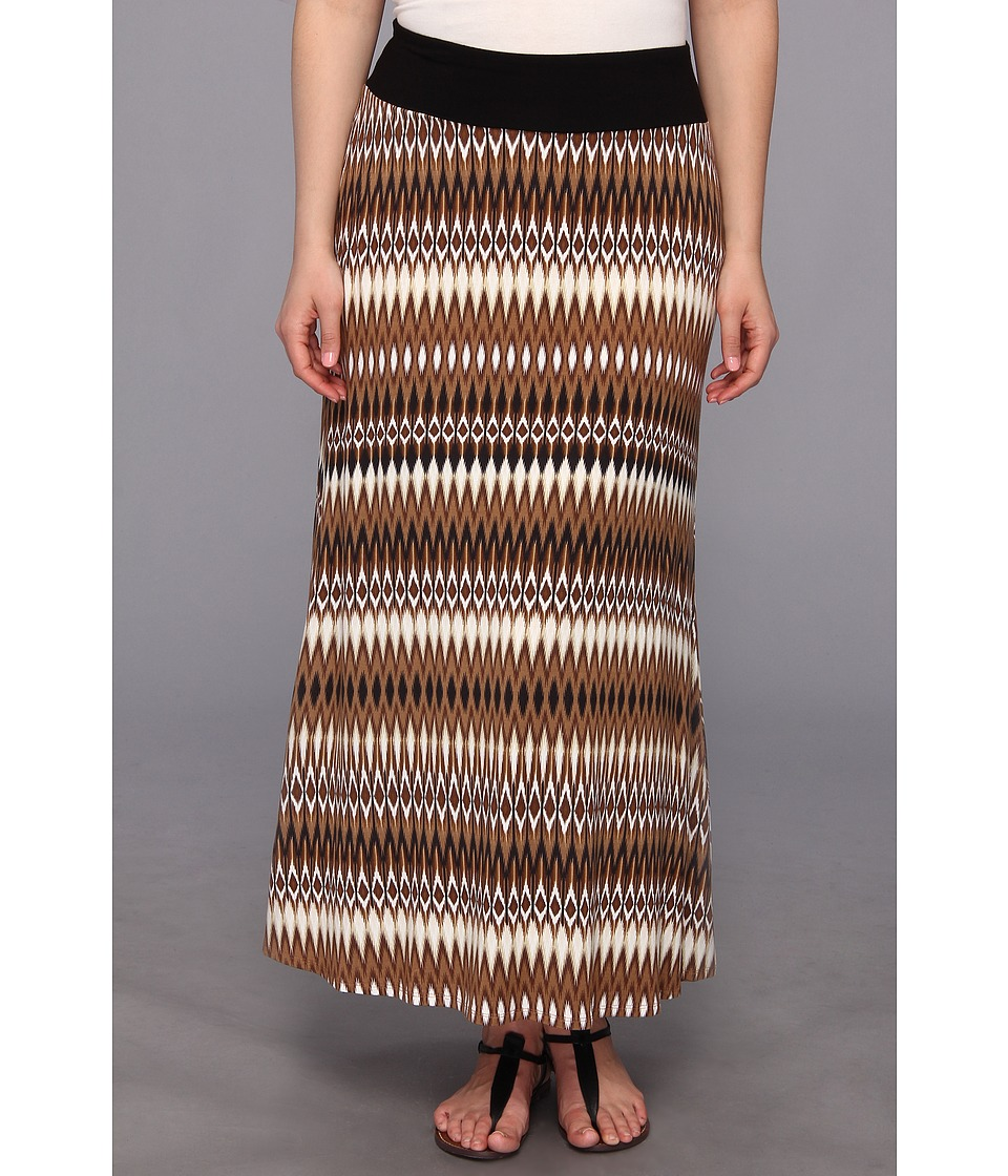 Karen Kane Plus - Plus Size Tribal Print Maxi Skirt (Print) Women's Skirt