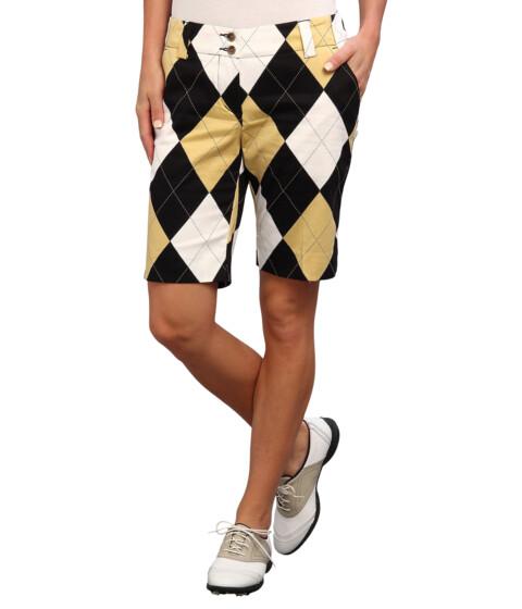 Loudmouth Golf - Black and Tan Short (Black/Tan) Women
