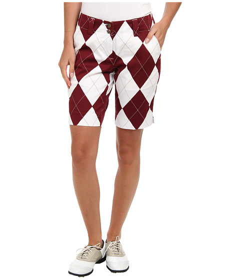 Loudmouth Golf - Maroon and White Short (Maroon/White) Women's Shorts