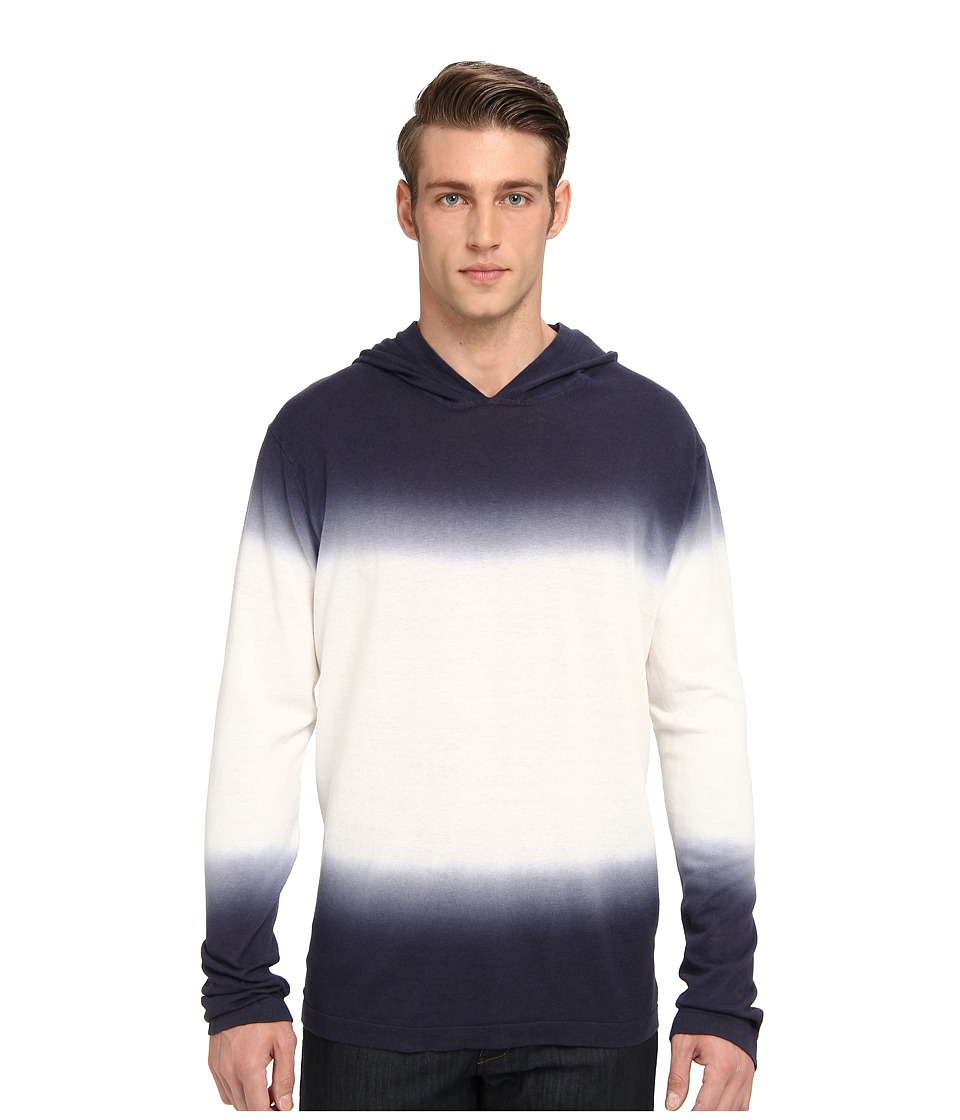 Michael Kors - Dip Dyed Linen Hoodie (Midnight) Men