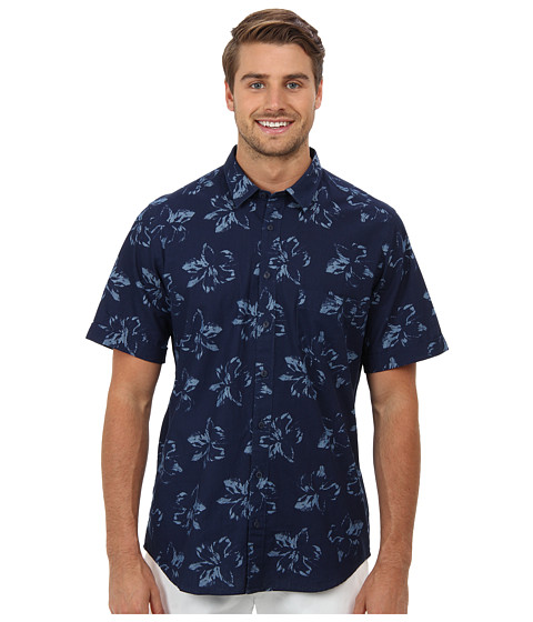 Rodd & Gunn - Robin Hood Bay Shirt (Indigo) Men's Short Sleeve Button Up
