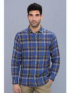 Rodd & Gunn Mcquarrie Lane Shirt (Royal) Men's Long Sleeve Button Up