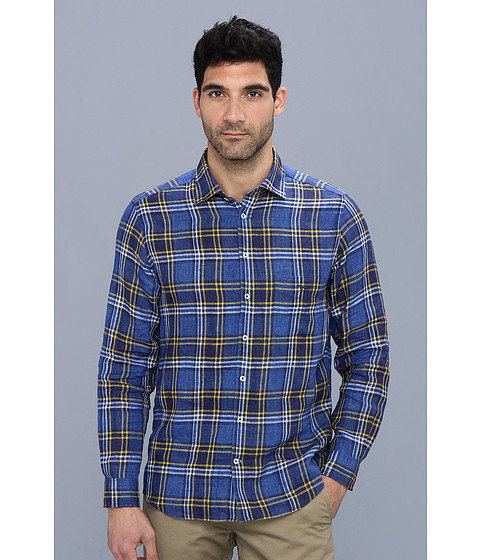 Rodd & Gunn Mcquarrie Lane Shirt (Royal) Men's Long Sleeve Button Up