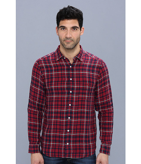 Rodd & Gunn - Ohara Street Shirt (Claret) Men's Long Sleeve Button Up