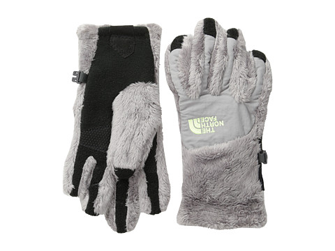 The North Face Kids - Denali Thermal Etip Glove (Big Kids) (Metallic Silver/Rave Green) Extreme Cold Weather Gloves