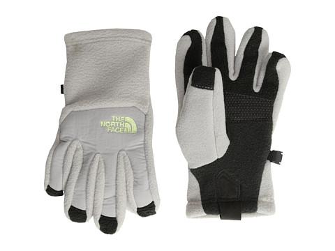 The North Face Kids - Denali Etip Glove (Big Kids) (Metallic Silver/Rave Green) Extreme Cold Weather Gloves