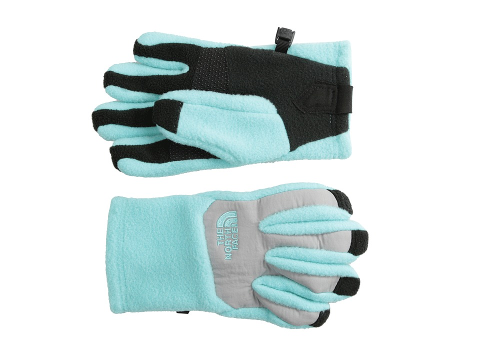 The North Face Kids - Denali Etip Glove (Big Kids) (Mint Blue/Metallic Silver) Extreme Cold Weather Gloves