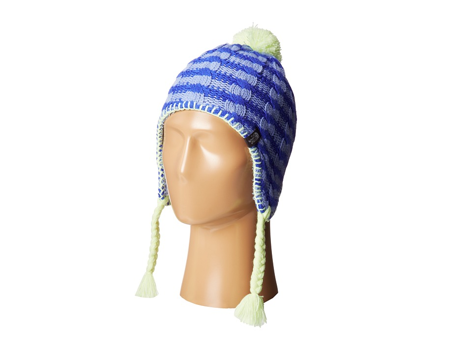 The North Face Kids - Fuzzy Earflap Beanie 13 (Big Kids) (Dynasty Blue/Vibrant Blue) Beanies