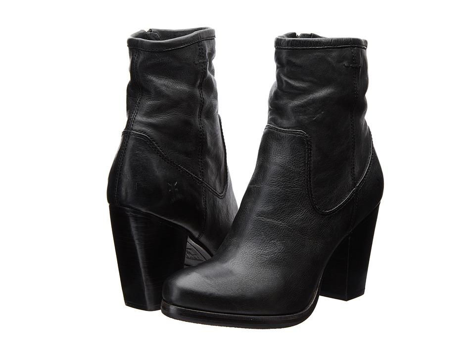 Frye - Patty Artisan Zip (Black Washed Vintage) Cowboy Boots