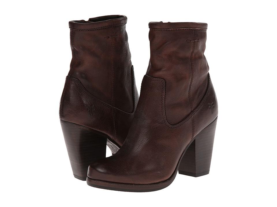 Frye - Patty Artisan Zip (Dark Brown Washed Vintage) Cowboy Boots