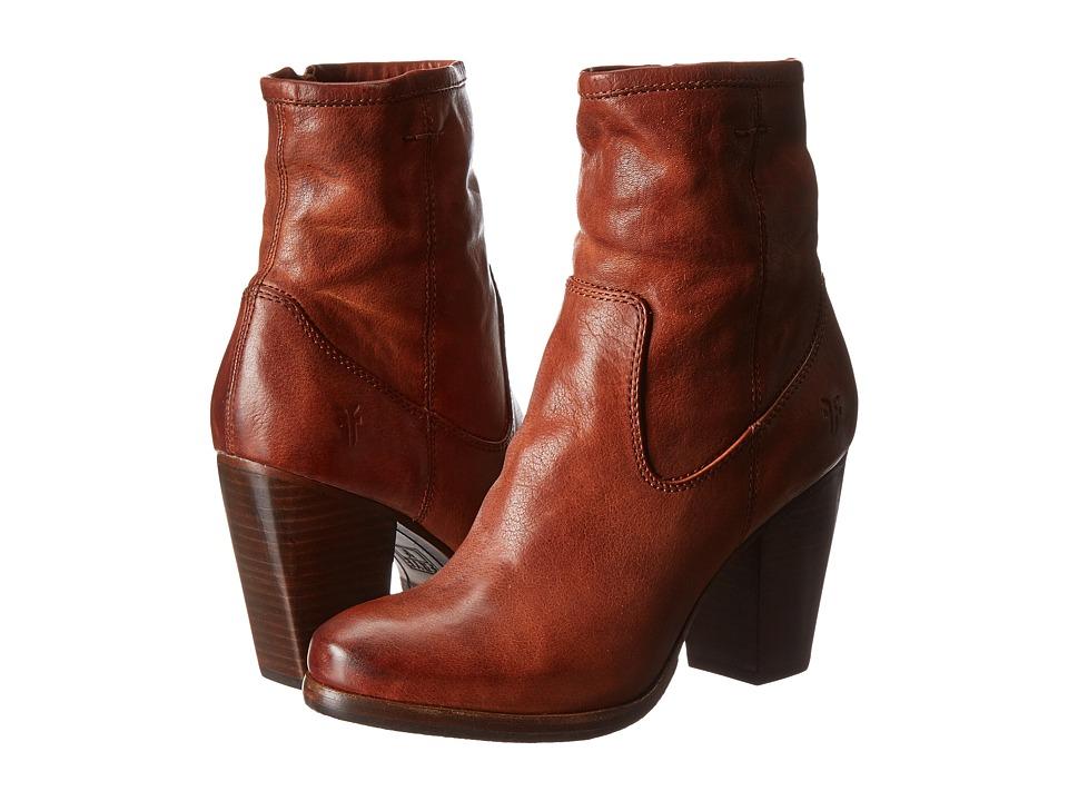 Frye Patty Artisan Zip Whiskey Washed Vintage Cowboy Boots