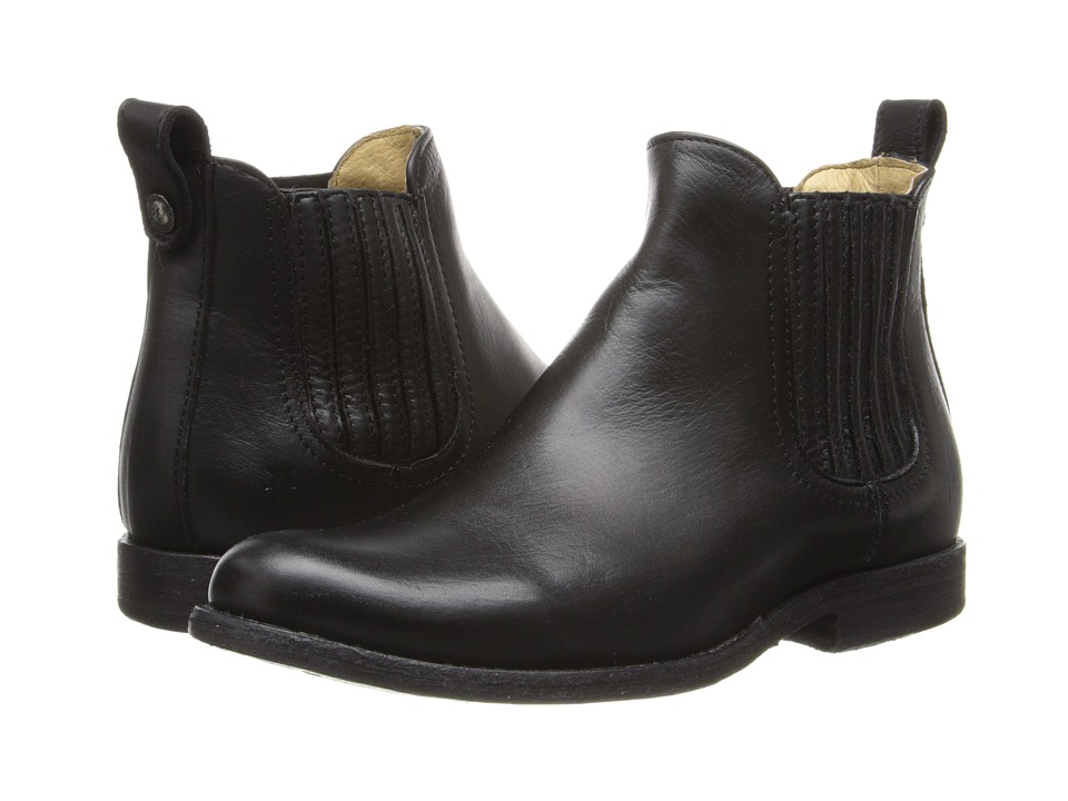 Frye - Phillip Chelsea (Black Soft Vintage Leather) Cowboy Boots