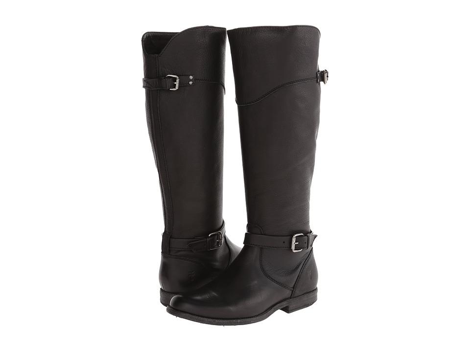 Frye - Phillip Riding (Black Soft Vintage Leather) Cowboy Boots