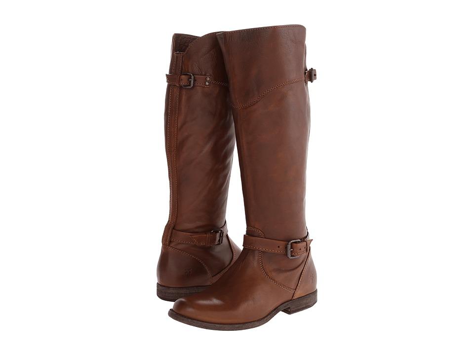Frye - Phillip Riding (Cognac Soft Vintage Leather) Cowboy Boots