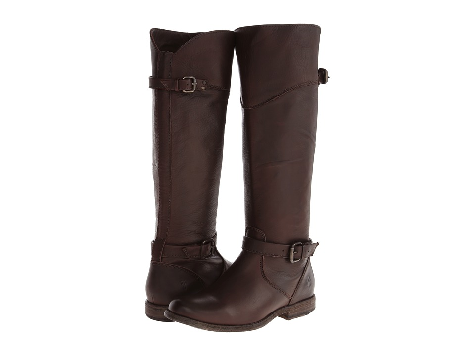 Frye - Phillip Riding (Dark Brown Soft Vintage Leather) Cowboy Boots