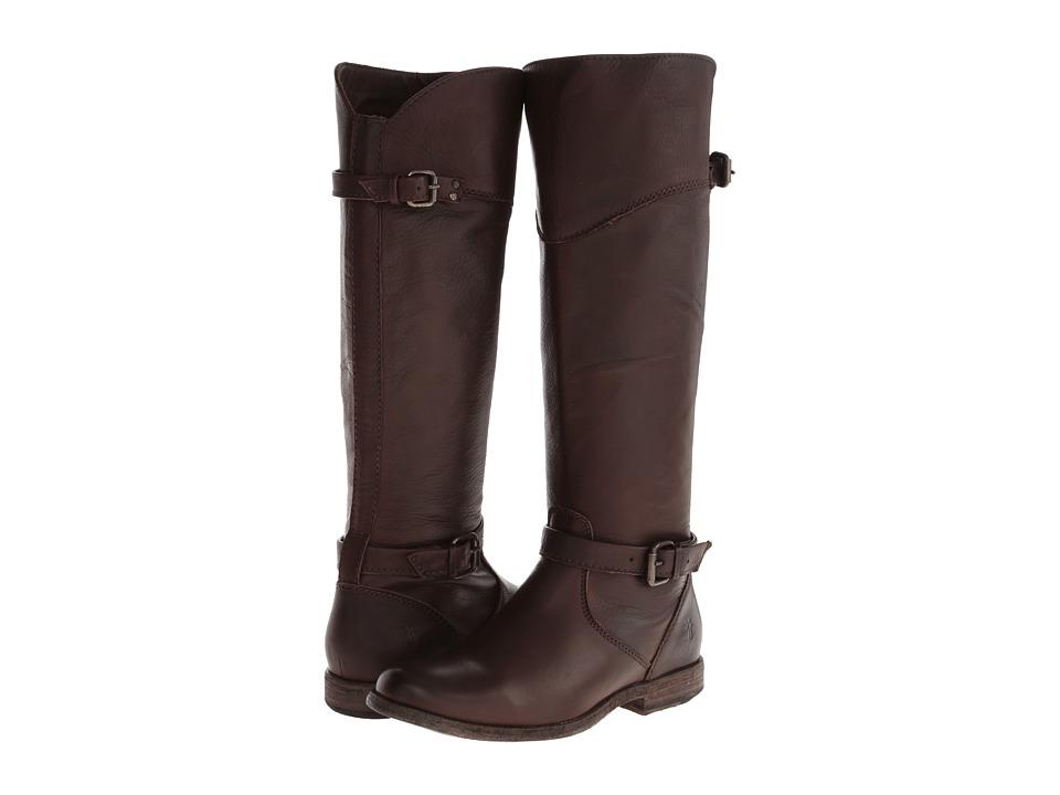 Frye Phillip Riding (Dark Brown Soft Vintage Leather) Cowboy Boots