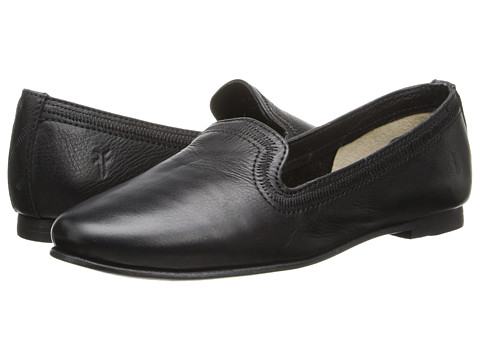 Frye - Phillip Stitch Slip On (Black Soft Vintage Leather) Women