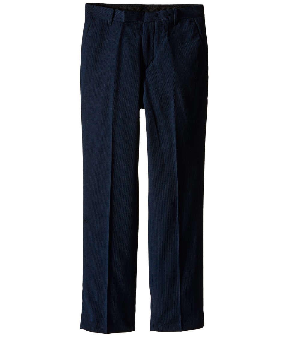 Calvin Klein Kids - Pinstripe Pant (Big Kids) (Navy) Boy's Dress Pants