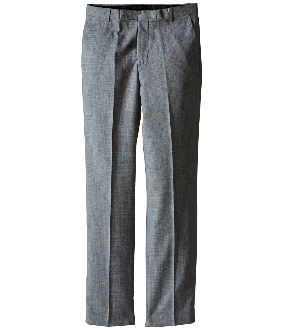 Calvin Klein Kids - Sharkskin Deco Pant (Big Kids) (Light Grey) Boy's Dress Pants