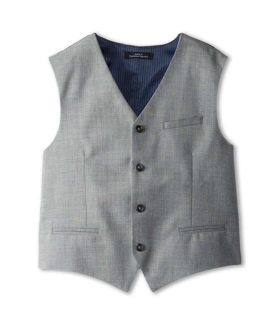 Calvin Klein Kids - Sharkskin w/ Deco Vest (Big Kids) (Light Grey) Boy
