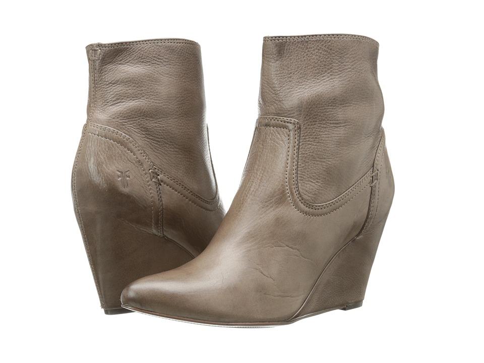 Frye - Regina Wedge Short (Grey Soft Vintage Leather) Cowboy Boots