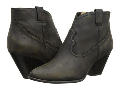 Frye - Reina Bootie (Black Cut Stonewash) Cowboy Boots