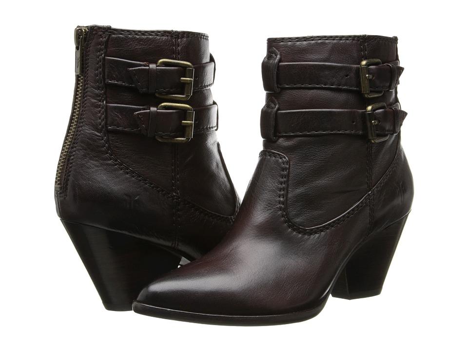 Frye - Reina Buckle (Dark Brown Soft Antique) Cowboy Boots