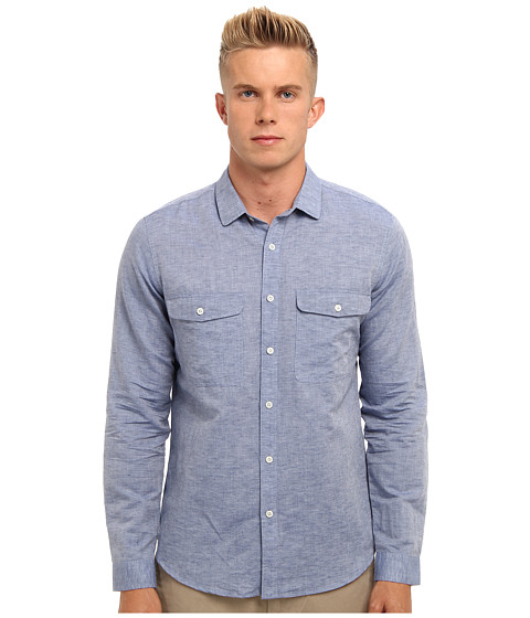 Theory - Jugen (Hull) Men's Long Sleeve Button Up