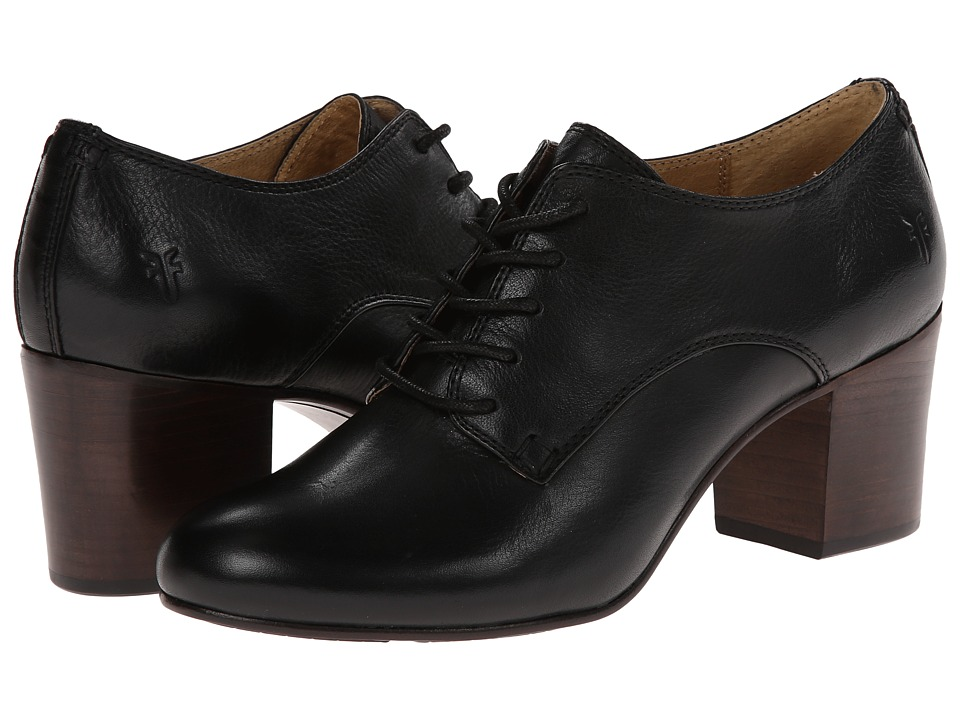 Frye - Stella Oxford (Black Soft Vintage Leather) High Heels