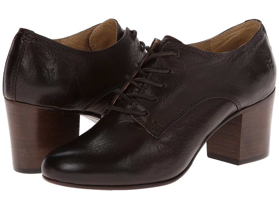 Frye - Stella Oxford (Dark Brown Soft Vintage Leather) High Heels