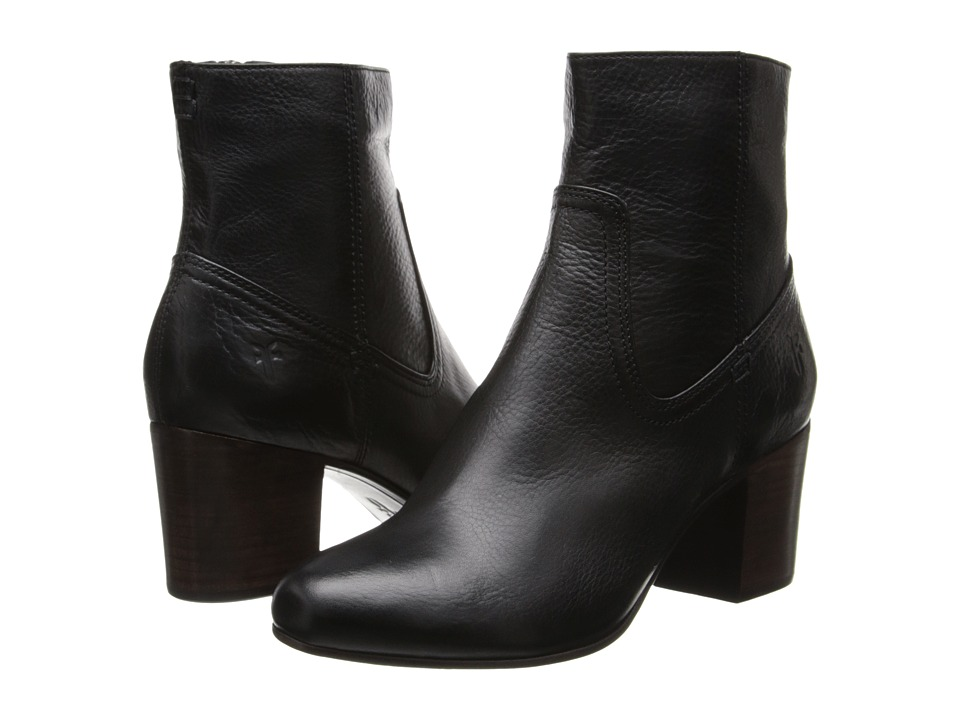 Frye - Stella Zip Short (Black Soft Vintage Leather) Cowboy Boots