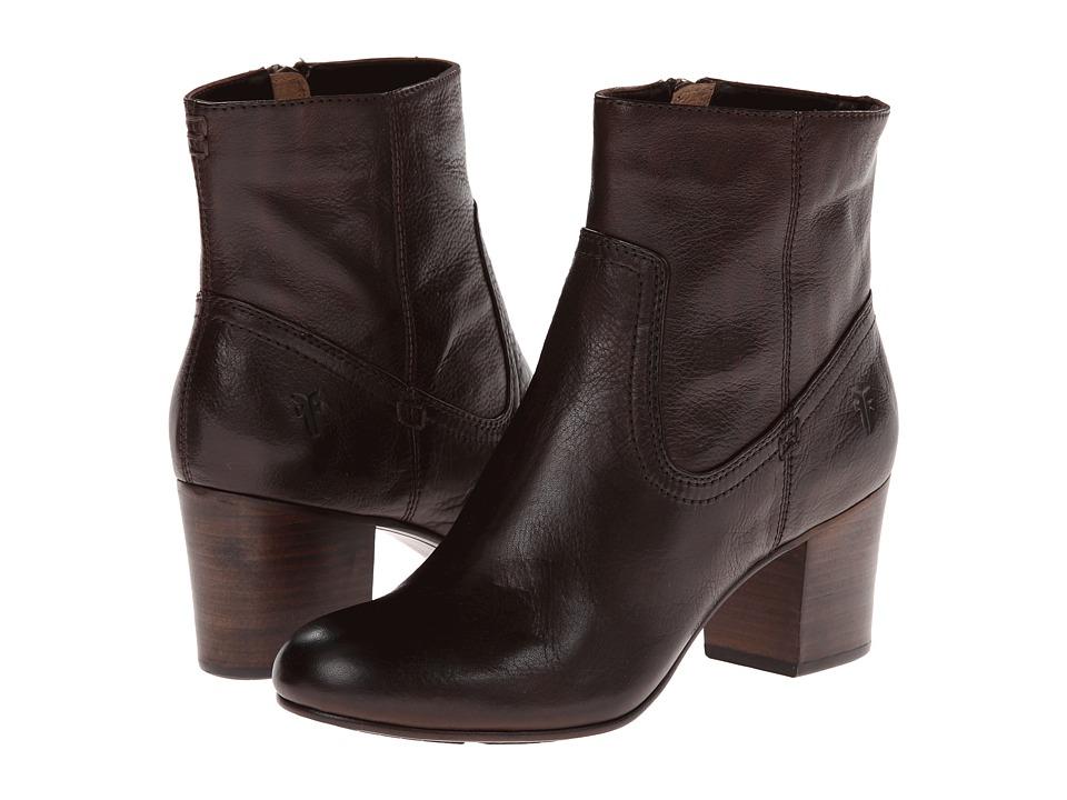 Frye - Stella Zip Short (Dark Brown Soft Vintage Leather) Cowboy Boots