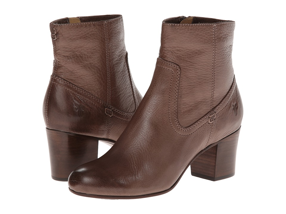 Frye - Stella Zip Short (Grey Soft Vintage Leather) Cowboy Boots