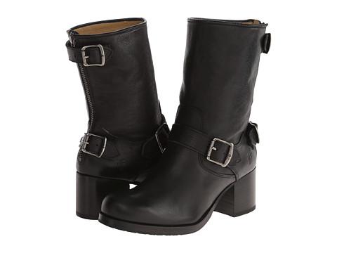 Frye - Vera Back Zip Short (Black Hammered Full Grain) Women
