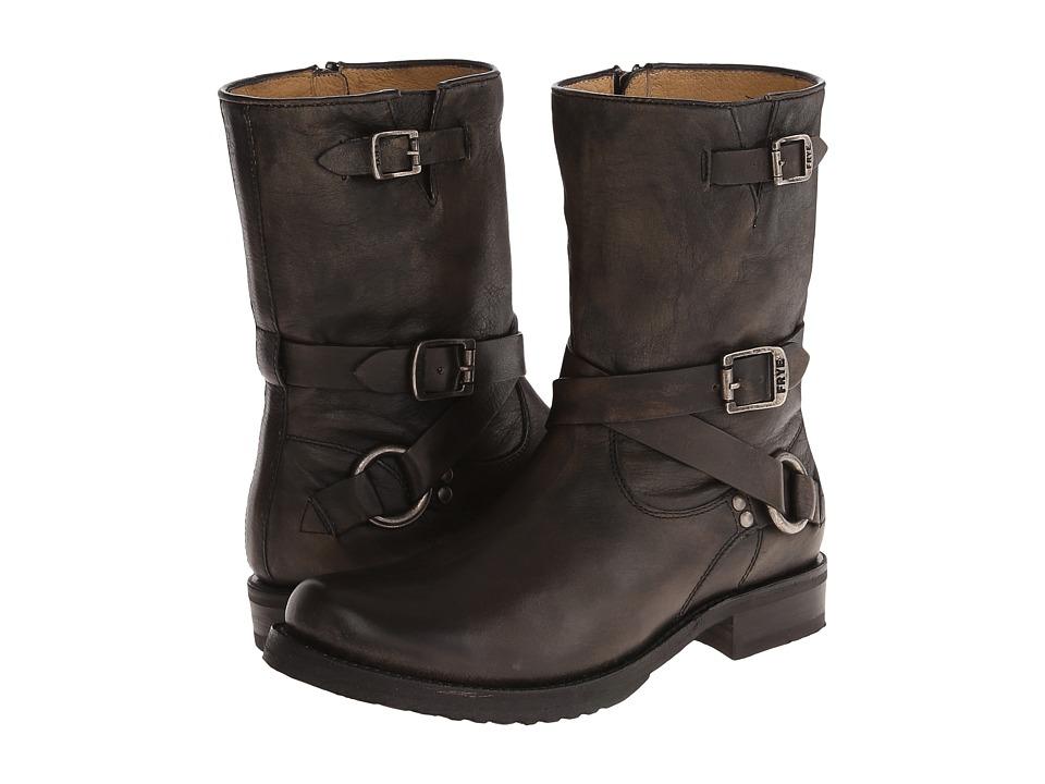 Frye - Veronica Criss Cross Short (Black Calf Shine Vintage) Cowboy Boots