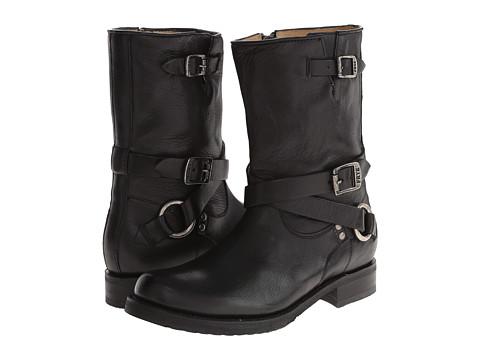 Frye - Veronica Criss Cross Short (Black Calf Shine) Cowboy Boots