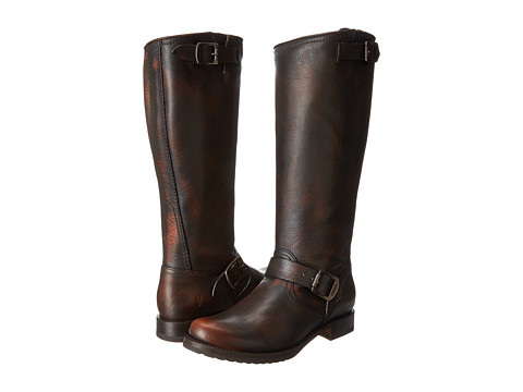 Shop Frye online and buy Frye Veronica Slouch Dark Brown Brush Off Womens Pull-on Boots online