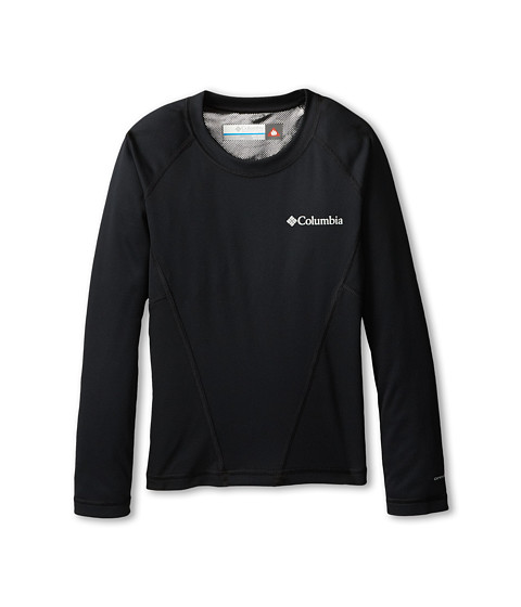 Columbia Kids - Baselayer Midweight Crew (Little Kids/Big Kids) (Black) Boy's Long Sleeve Pullover
