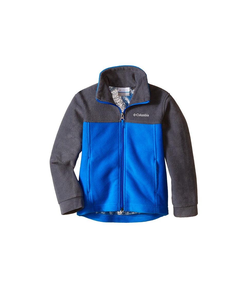 Columbia Kids - Dotswarm Full Zip (Little Kids/Big Kids) (Hyper Blue/Graphite) Boy's Jacket