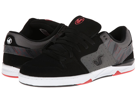 DVS Shoe Company - Argon (Black/Grey Nubuck) Men's Skate Shoes