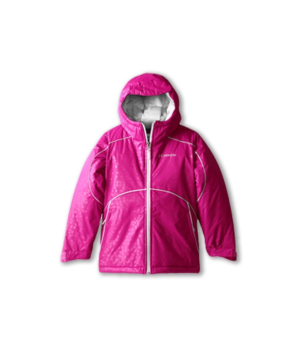 Columbia Kids - Shasta Valleytm Jacket (Little Kids/Big Kids) (Groovy Pink Emboss/White) Girl's Coat