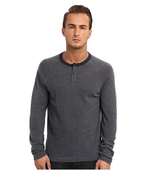 Theory - Jonatan L (Navy Heather) Men's Short Sleeve Pullover