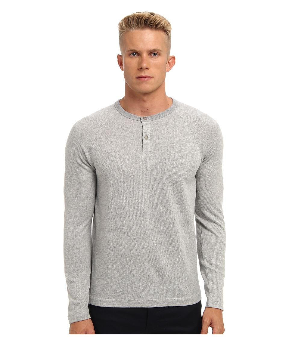 Theory - Jonatan L (Grey Heather) Men's Short Sleeve Pullover