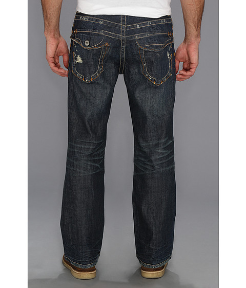 Mek Denim - New York Flap Pocket Bootcut in Dark Blue (Dark Blue) Men
