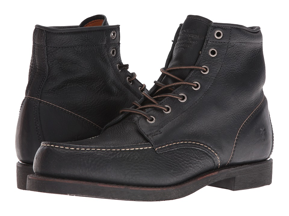 Frye Arkansas Moc Toe (Black Tumbled) Men