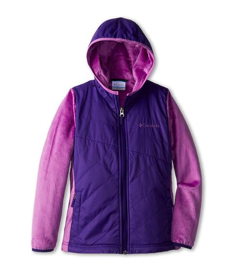 Columbia Kids - Pearl Plush II Hybrid Hoodie (Little Kids/Big Kids) (Hyper Purple/Blossom Pink) Girl's Sweatshirt